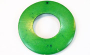 Donut, 50/22mm, Coco, Forest Green beads, DYED COCONUT PENDANTS & PARTS
