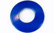 Donut, 50/22mm, Coco, Royal Blue beads, DYED COCONUT PENDANTS & PARTS