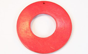 Donut, 50/22mm, Coco, Scarlet Red beads, DYED COCONUT PENDANTS & PARTS