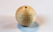 Round, 16mm, Wood, Cotton, Cream beads, WRAPPED & CROCHET BEADS
