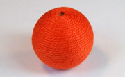 Round, 21mm, Wood, Cotton, Tangerine beads, WRAPPED & CROCHET BEADS