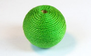 Round, 21mm, Wood, Cotton, Grass Green beads, WRAPPED & CROCHET BEADS