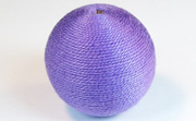 Round, 31mm, Wood, Cotton, Purple beads, WRAPPED & CROCHET BEADS