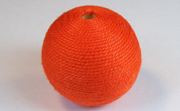 Round, 31mm, Wood, Cotton, Tangerine beads, WRAPPED & CROCHET BEADS