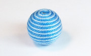 Round, 16mm, Wood, Cotton, Copen Blue & Sky Blue beads, WRAPPED & CROCHET BEADS