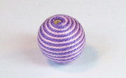 Round, 16mm, Wood, Cotton, Pale Rose & Purple  beads, WRAPPED & CROCHET BEADS