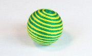 Round, 16mm, Wood, Cotton, Emerald Green & Yellow Green  beads, WRAPPED & CROCHET BEADS