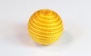 Round, 16mm, Wood, Cotton, Gold & Golden Yellow  beads, WRAPPED & CROCHET BEADS