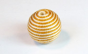 Round, 16mm, Wood, Cotton, Cream & Mustard  beads, WRAPPED & CROCHET BEADS