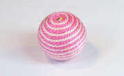 Round, 16mm, Wood, Cotton, Baby Pink & Medium Pink  beads, WRAPPED & CROCHET BEADS