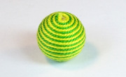 Round, 16mm, Wood, Cotton, Yellow Green & Grass Green  beads, WRAPPED & CROCHET BEADS