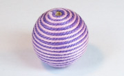 Round, 21mm, Wood, Cotton, Pale Rose & Purple  beads, WRAPPED & CROCHET BEADS