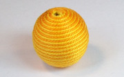 Round, 21mm, Wood, Cotton, Gold & Golden Yellow  beads, WRAPPED & CROCHET BEADS
