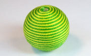 Round, 26mm, Wood, Cotton, Yellow Green & Grass Green  beads, WRAPPED & CROCHET BEADS