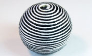 Round, 31mm, Wood, Cotton, White & Black  beads, WRAPPED & CROCHET BEADS