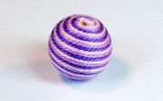 Round, 16mm, Wood, Cotton, Pale Rose & Light Lavender & Purple  beads, WRAPPED & CROCHET BEADS