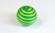 Round, 16mm, Wood, Cotton, Yellow Green & Emerald Green & Grass Green  beads, WRAPPED & CROCHET BEADS