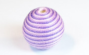 Round, 21mm, Wood, Cotton, Pale Rose & Light Lavender & Purple  beads, WRAPPED & CROCHET BEADS