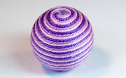 Round, 26mm, Wood, Cotton, Pale Rose & Light Lavender & Purple  beads, WRAPPED & CROCHET BEADS