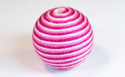 Round, 26mm, Wood, Cotton, Baby Pink & Burgundy & Medium Pink  beads, WRAPPED & CROCHET BEADS