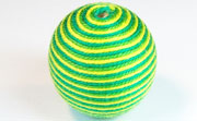 Round, 31mm, Wood, Cotton, Yellow Green & Emerald Green & Grass Green  beads, WRAPPED & CROCHET BEADS
