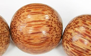 Round, 24mm, Palmwood beads, EXOTIC WOODEN BEADS