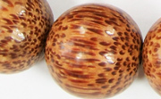Round, 26mm, Palmwood beads, EXOTIC WOODEN BEADS