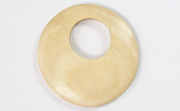 Donut, 40mm, Offset Hole 16mm, White Wood beads, EXOTIC WOODEN PENDANTS