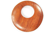 Donut, 40mm, Offset Hole 16mm, Bayong beads, EXOTIC WOODEN PENDANTS