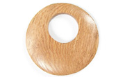 Donut, 40mm, Offset Hole 16mm, Rosewood beads, EXOTIC WOODEN PENDANTS
