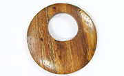 Donut, 40mm, Offset Hole 16mm, Robles beads, EXOTIC WOODEN PENDANTS