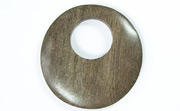 Donut, 40mm, Offset Hole 16mm, Greywood beads, EXOTIC WOODEN PENDANTS