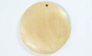 Disc, 40mm, White Wood beads, EXOTIC WOODEN PENDANTS