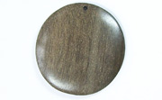 Disc, 40mm, Greywood beads, EXOTIC WOODEN PENDANTS