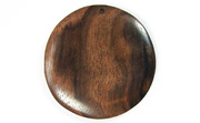 Disc, 40mm, Ebony beads, EXOTIC WOODEN PENDANTS