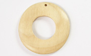 Donut, 40/18mm, White Wood beads, EXOTIC WOODEN PENDANTS