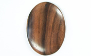 Oval, 40x29mm, Ebony beads, EXOTIC WOODEN PENDANTS