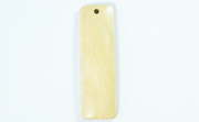 Bar, 40x12mm, White Wood beads, EXOTIC WOODEN PENDANTS