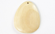 Teardrop, 40x33mm, White Wood beads, EXOTIC WOODEN PENDANTS
