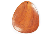 Teardrop, 40x33mm, Bayong beads, EXOTIC WOODEN PENDANTS