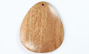 Teardrop, 40x33mm, Rosewood beads, EXOTIC WOODEN PENDANTS