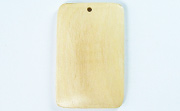 Rectangle, 40x26mm, White Wood beads, EXOTIC WOODEN PENDANTS