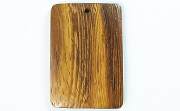 Rectangle, 40x26mm, Robles beads, EXOTIC WOODEN PENDANTS