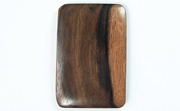 Rectangle, 40x26mm, Ebony beads, EXOTIC WOODEN PENDANTS