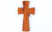 Cross, 4/5x22x40mm, 1.5mm Lengthwise Hole, Bayong beads, EXOTIC WOODEN PENDANTS