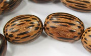 Oval, 12x18mm, Patikan beads, EXOTIC WOODEN BEADS