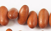 Oval, Side Drill, 17x8mm, Bayong beads, EXOTIC WOODEN BEADS