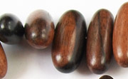 Oval, Side Drill, 24x9mm, Ebony beads, EXOTIC WOODEN BEADS