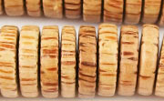 Pucalet, 16x4mm, Palmwood beads, EXOTIC WOODEN BEADS