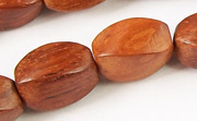 Twisted, 9x15mm, Bayong beads, EXOTIC WOODEN BEADS
